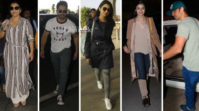 Several B-Town celebrities were snapped at the aiport and other locations in Mumbai on Sunday. (Photo: Viral Bhayani)
