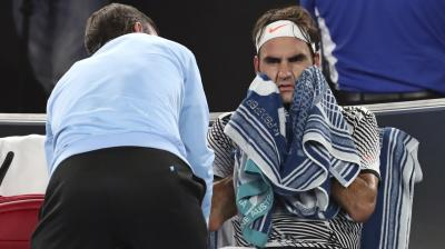 Roger Federer defended his right to receive treatment, saying he had been feeling pain in his upper right thigh for much of the tournament. (Photo: AP)