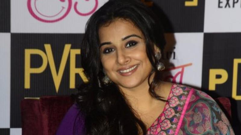 Vidya Balan during her upcoming release Tumhari Sulu promotions.