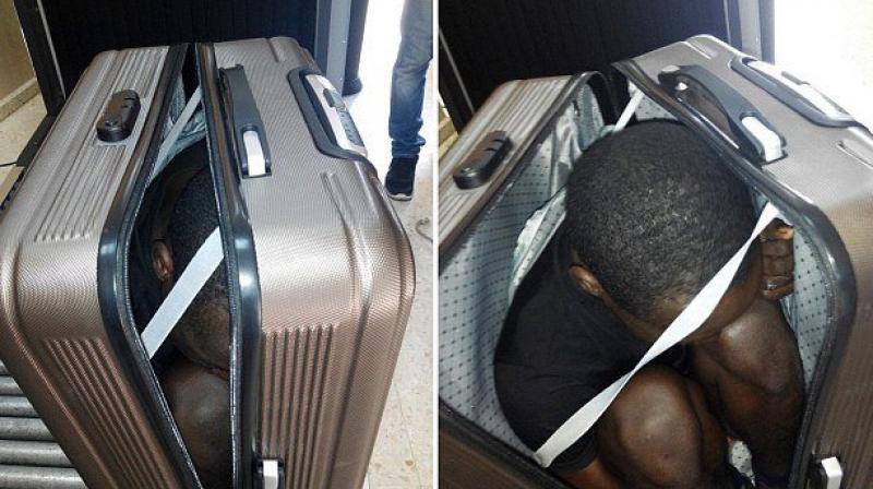Young woman caught smuggling refugee in her suitcase