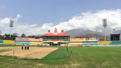 Sunil Chauhan said that every season they have changed the top soil in order to keep the binding of the Dharamsala pitch intact. (Photo: BCCI Twitter)