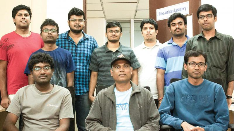 Prof. Venkatesh Babu along with his team from the Department of Computation and Data Sciences, Indian Institute of Sciences, Bengaluru. (Photo: DC)