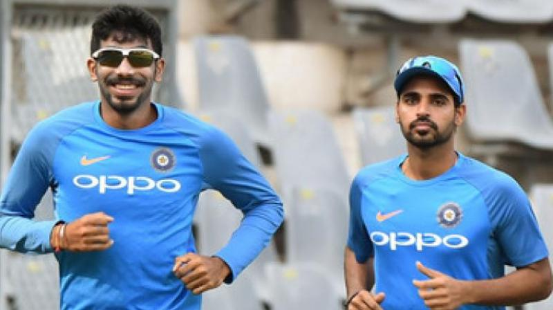 Bhuvneshwar Kumar said that he has confidence in Jasprit Bumrah that he can bowl well at the death.(Photo: AFP)