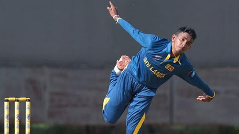 . Having an unorthodox style of bowling action, Kevin Koththigoda's bowling action resembles former South Africa leggie Paul Adams, who bowled with a similar action.(Photo:Twitter / Asian Cricket Council)