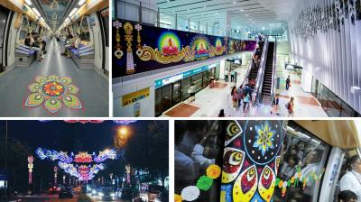 The Singapore government launched a special 'Diwali' theme decoration train on its North Eastern Line (NEL) to celebrate the Indian festival with pomp and glory, attesting the growing appeal of Indian culture and festivals on a global scale.