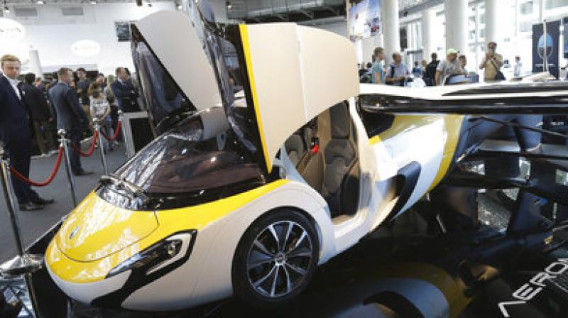 AeroMobil display their latest prototype of a flying car, in Monaco.