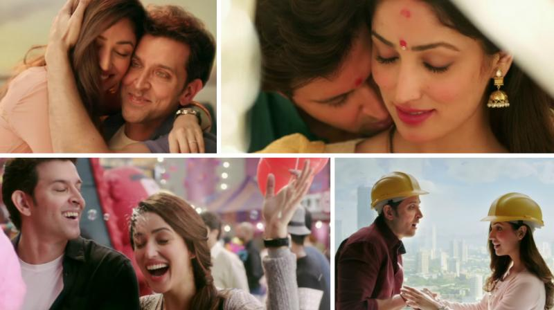 Screengrabs from the song 'Kaabil Hoon'.