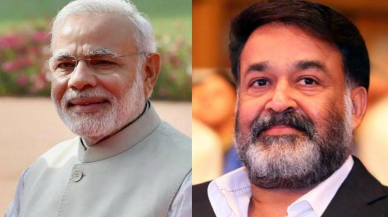 Mohanlal took to Twitter to wish Narendra Modi on his birthday on Sunday.
