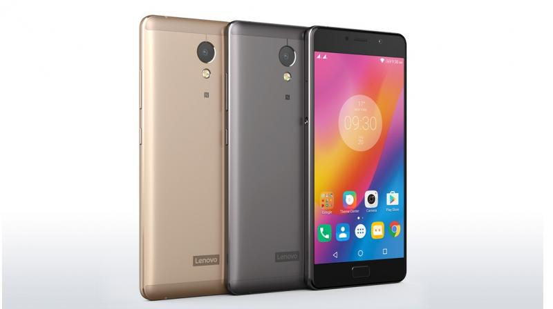 Champagne Gold and Graphite Grey variant of Lenovo P2