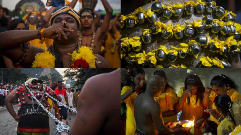Thaipusam is celebrated in Kuala Lumpur in honor of Hindu god Lord Murugan with an annual procession by Hindu devotees seeking blessings, fulfilling vows and offering thanks. (Photo: AP)