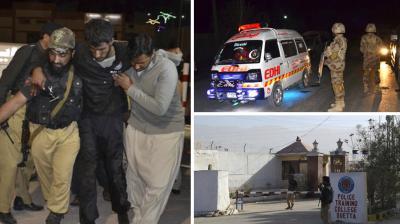 that communications intercepts showed the militants belonged to the Al-Alimi faction of the Lashkar-e-Jhangvi militant group.