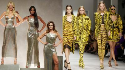 The show brought together the supermodels that Gianni Versace helped create — Carla Bruni, Claudia Schiffer, Naomi Campbell, Cindy Crawford and Helena Christensen. (All Photos: AP)