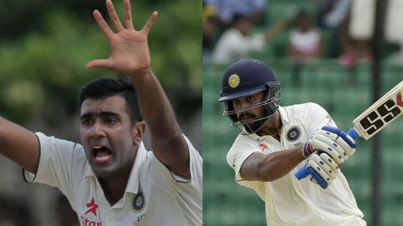 R. Ashwin and Murali Vijay