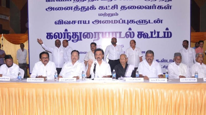 DMKs all party Cauvery meet will pressure Centre, Karna