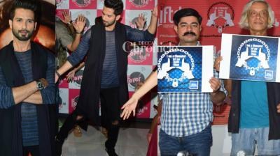 After Deepika Padukone, Shahid Kapoor kicked off his promotions of the much-anticipated film 'Padmavati' in Mumbai on Monday, while film associations also lent their support to the film at a press conference. (Photo: Viral Bhayani)