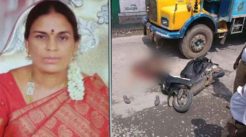 Bengaluru: Biker swerves to avoid pothole, pillion rider crushed to death