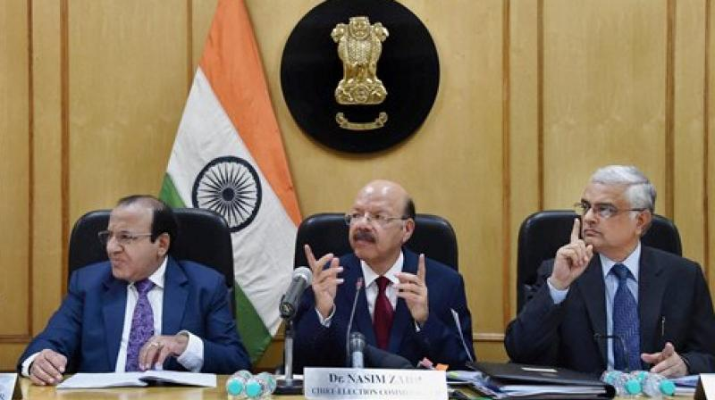 Chief Election Commissioner Nasim Zaidi, along with Election Commissioners Achal Kumar Jyoti and Om Prakash Rawat. (Photo: PTI/File)