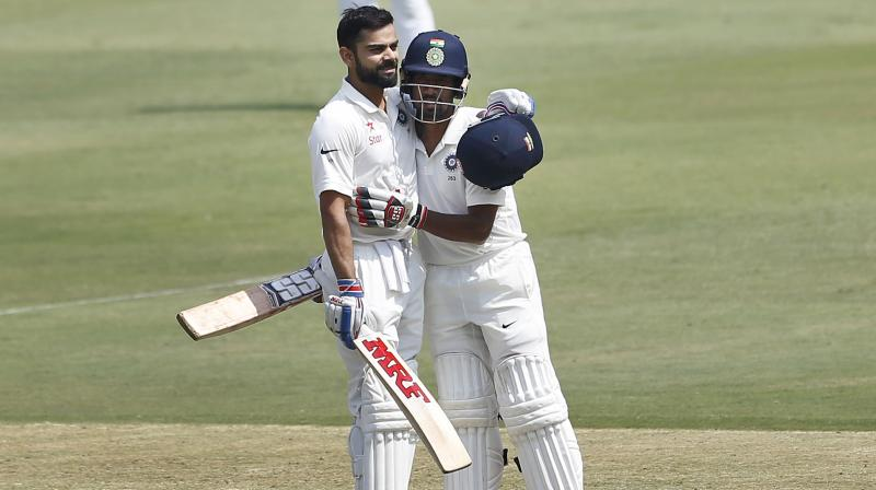 Vijay, Pujara help India post 206/2 at Tea on Day 1