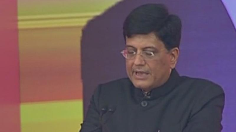 Union Railway Minister Piyush Goyal said the bullet train project would boost the economies all along its route. (Photo: ANI/Twitter)
