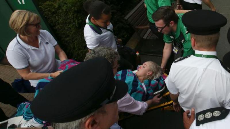 Bethanie Mattek-Sands Suffers Brutal Leg Injury At Wimbledon
