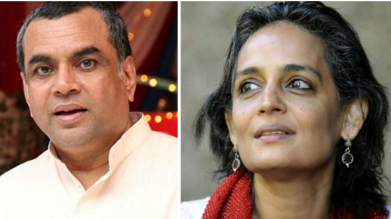Tweet row: Shiv Sena backs Paresh Rawal, slams Arundhati Roy