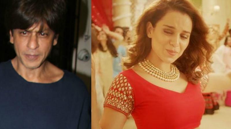 Kangana Ranaut and Shah Rukh Khan.