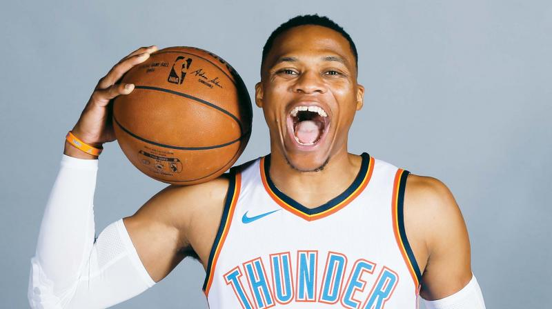 Russell Westbrook signs a 5-year extension with Oklahoma City