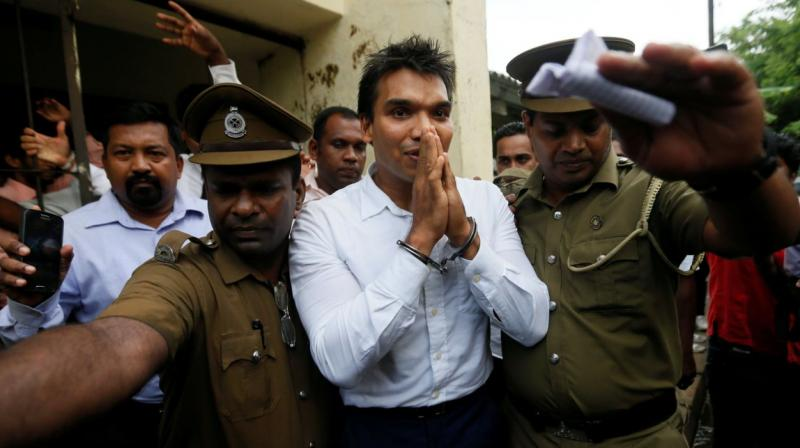 Sri Lanka arrests MP Namal over anti-India protest