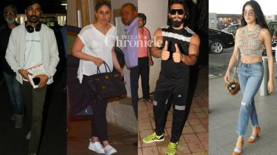 Shutterbugs clicked Bollywood stars in Mumbai as they stepped out for various reasons on Saturday. (Photo: Viral Bhayani)
