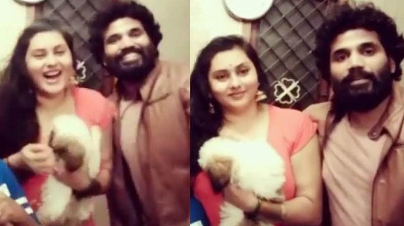 Screengrabs from the video Namitha posted on Instagram.