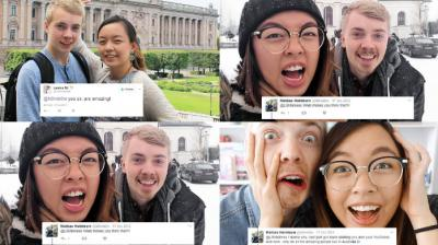 Leoni and Mattias tweeted to each other about a tutorial video and they fell in love and are now travelling the world. (Photo: Instagram/theleoniesiee)