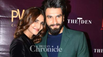 Ranveer Singh and Vaani Kapoor promoted their film 'Befikre' in Delhi on Tuesday. (Photo: Viral Bhayani)
