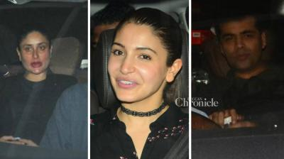 Bollywood celebrities like Kareena Kapoor Khan, Gauri Khan among others were snapped as they arrived for a screening of Karan Johar's 'Ae Dil Hai Mushkil' on Sunday night. (Photo: Viral Bhayani)