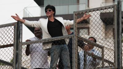 Image result for Here is how you can meet SRK any time, he promises to come out for you!