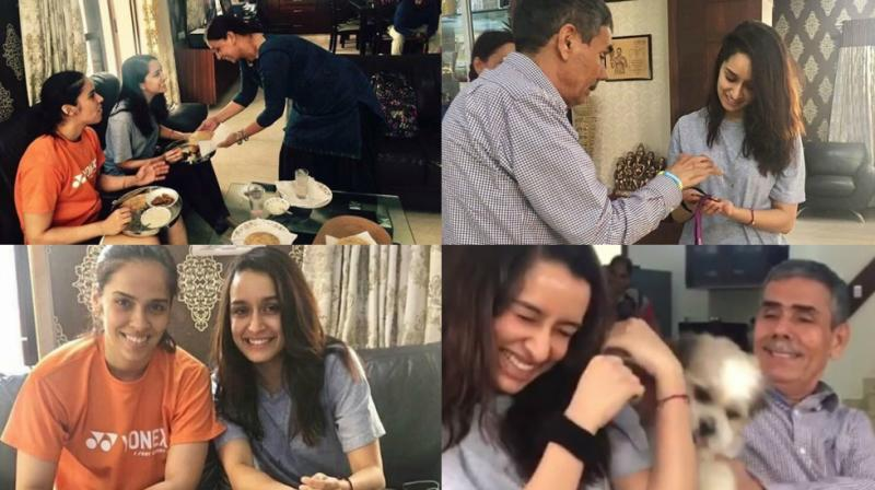 Saina Nehwal biopic: Shraddha visits badminton ace's house, bonds with family