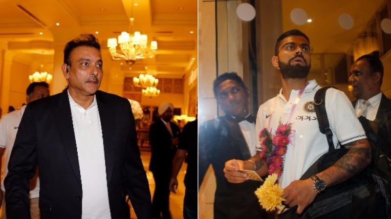 New head coach Ravi Shastri and India captain Virat Kohli will aim to kick-off the series on a positive note. (Photo: AP)
