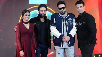 Karan Johar, Shalmali Kholgade, Badhshah and Shekhar Ravjiani were snapped as they launched the singing-based reality show 'Dil Hai Hindustani' which they will be judging. (Photo: Viral Bhayani)