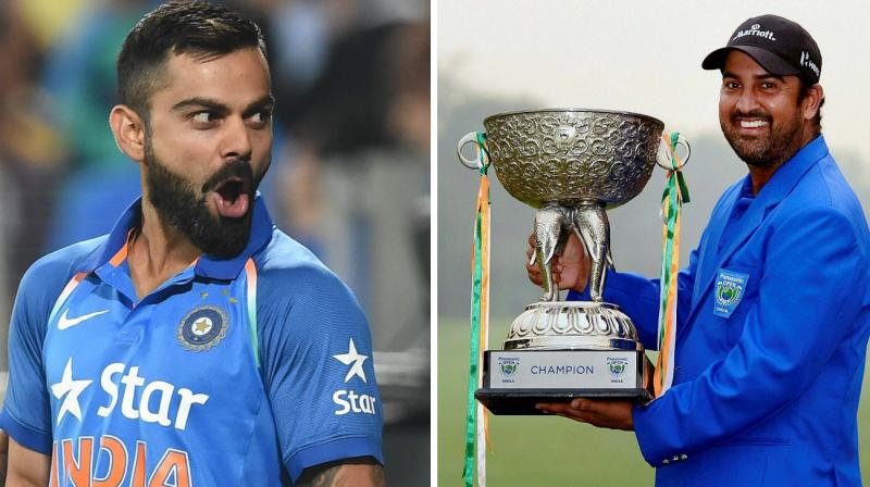 """""""I was watching cricket yesterday and when (Virat) Kohli came into bat and I said that's the attitude you should have. He takes on the ball from first delivery and all the pressure was on him and that was kind of message I tried to tell myself,"""" said Shiv Kapur referring to Kohli's blazing knock against New Zealand in the second T20 on Saturday. (Photo: PTI)"""