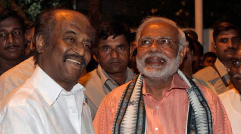 Rajinikanth extends support to PM's 'Swachhata Hi Seva' mission