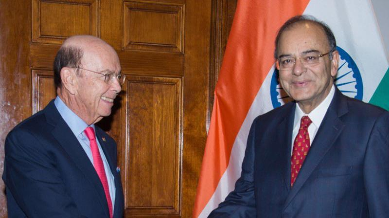 Jaitley, leading an Indian delegation, arrived in Washington DC on Thursday morning to attend the annual Spring meeting of the International Monetary Fund and the World Bank. (Photo: Twitter)