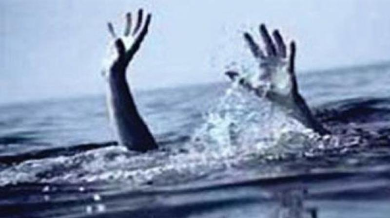 Two men were feared drowned in Vasishta river, a tributary of Godavari, in the border area between Teeparru and Kakaraparru villages of Peravali mandal in West Godavari on Wednesday.