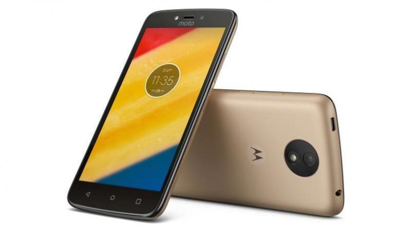 Gold variant of Moto C Plus smartphone