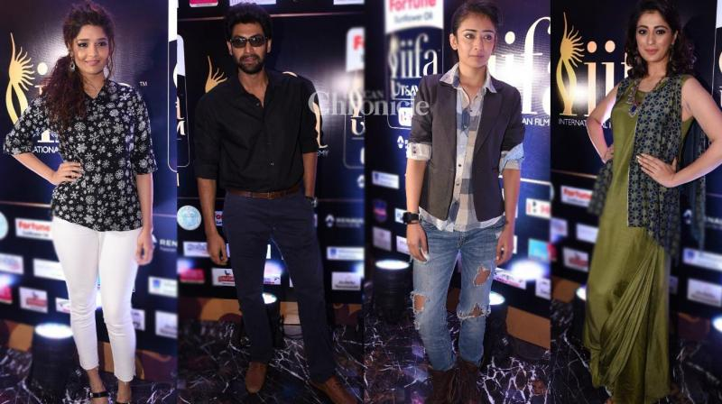 Several celebrities were present at a launch event of IIFA Utsavam, an awards show to honour the best performances in South cinema, on Monday. (Photo: Viral Bhayani)