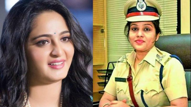 Anushka Shetty and DIG D. Roopa