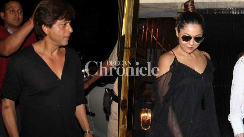 Gauri Khan has established herself in the interior designing industry and hubby Shah Rukh Khan also arrived at a newly launched lounge bar designed by her in Mumbai on Monday. (Photo: Viral Bhayani)