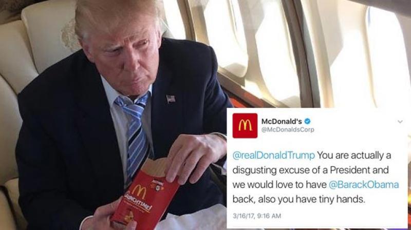 McDonalds serves anti-Trump tweet, says its account was 'compromised'