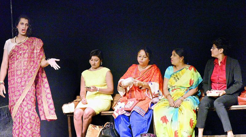 A still from the play Ladies Compartment.