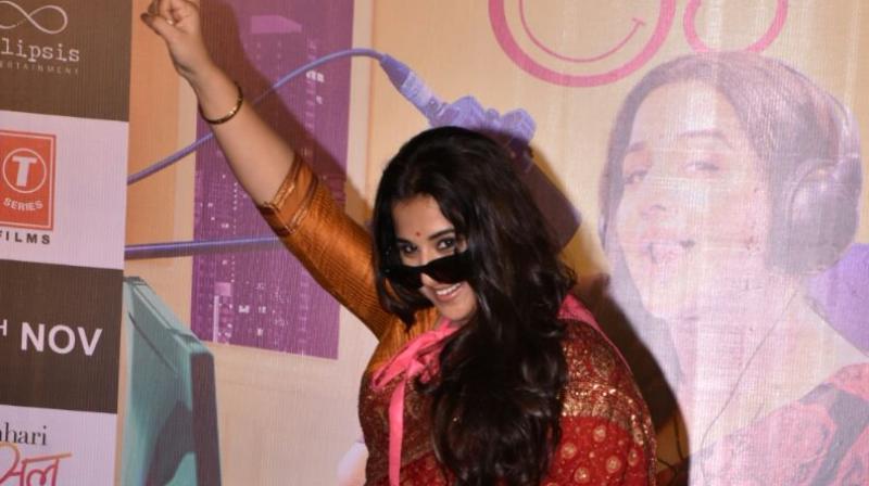 Vidya once again essays the role of an RJ after Lage Raho Munna Bhai (2006).