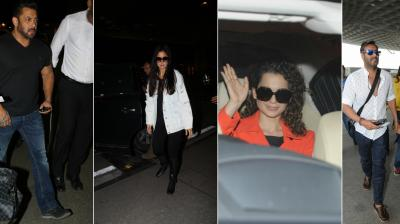 These bollywood celebrities were recently spotted at the Mumbai airport.