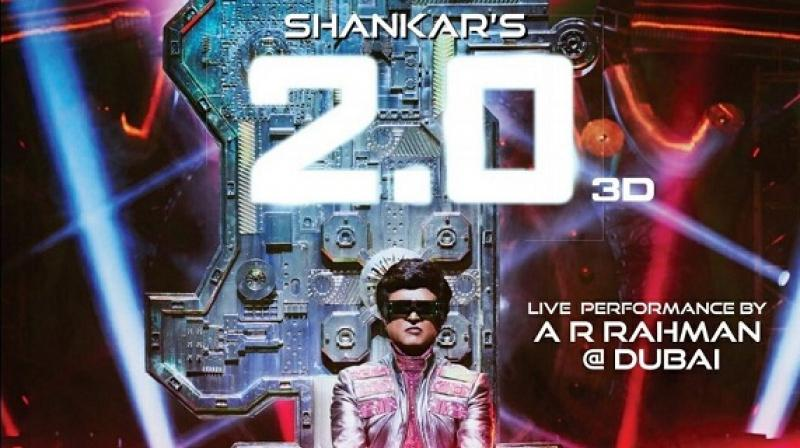 Superstar Rajinikanth off to Dubai for '2 Point O' audio launch